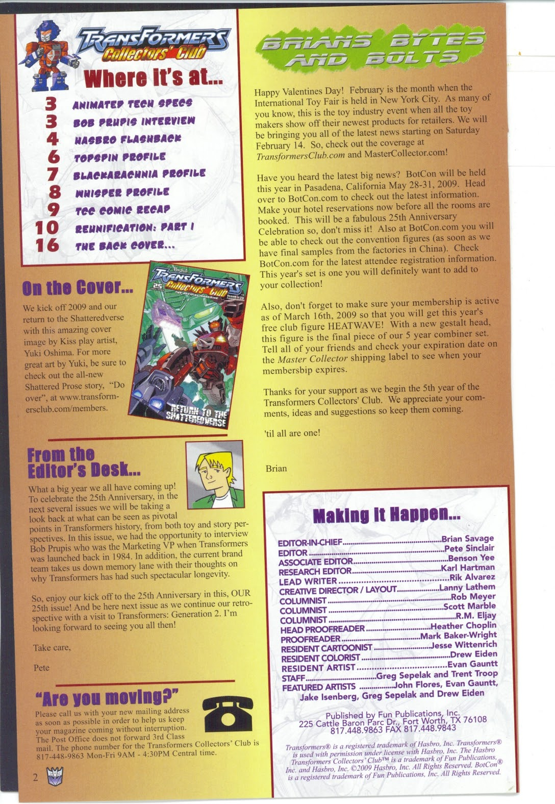Read online Transformers: Collectors' Club comic -  Issue #25 - 2