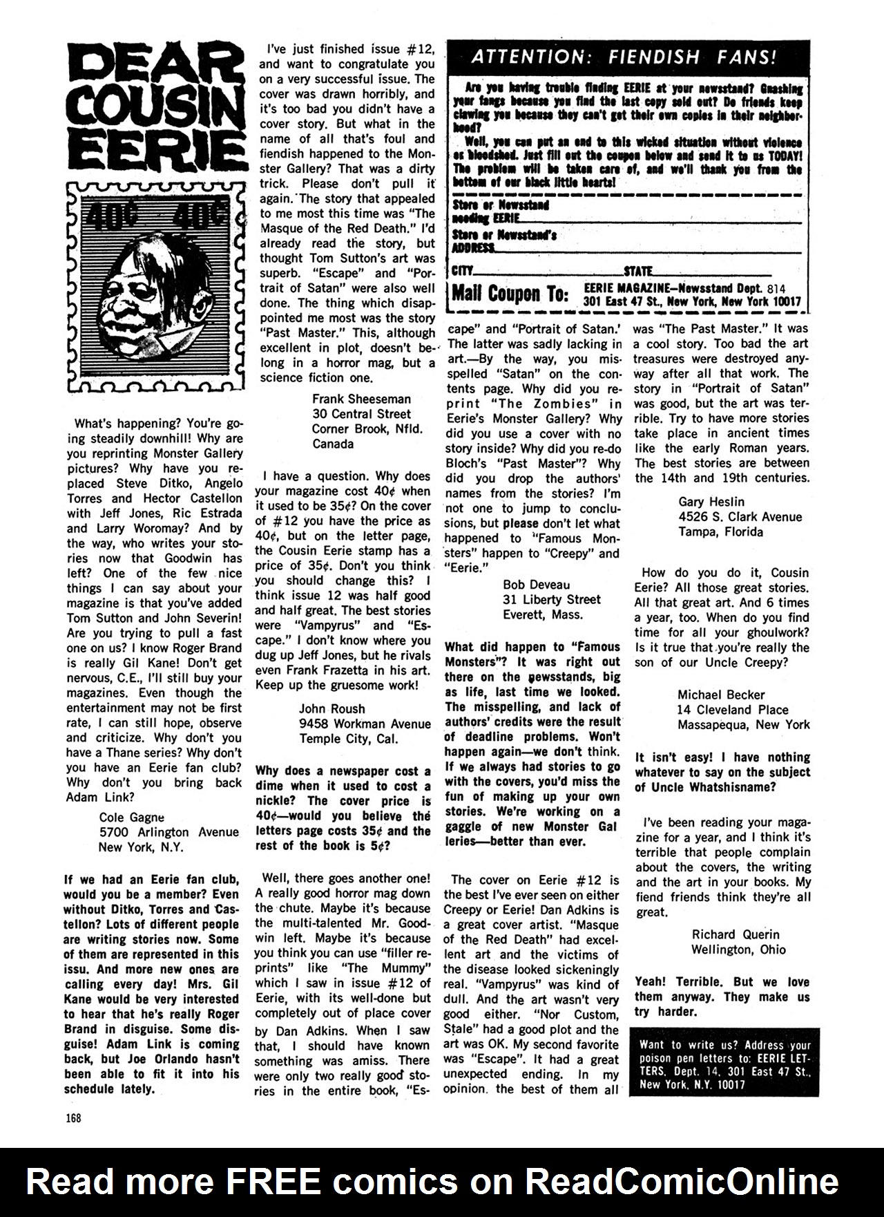 Read online Eerie Archives comic -  Issue # TPB 3 - 169