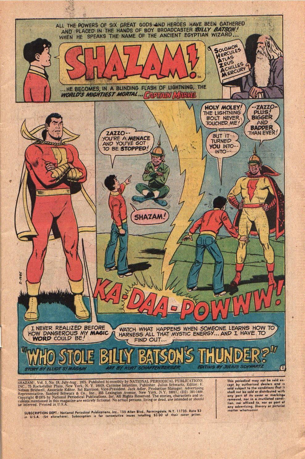 Read online Shazam! (1973) comic -  Issue #19 - 3