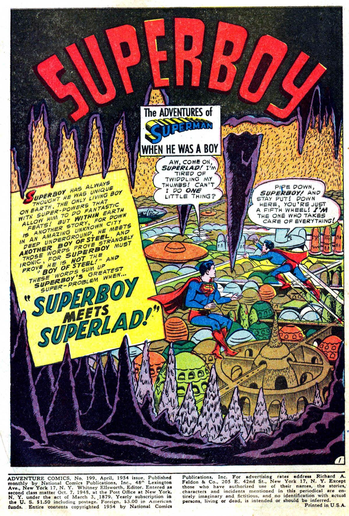 Read online Adventure Comics (1938) comic -  Issue #199 - 2