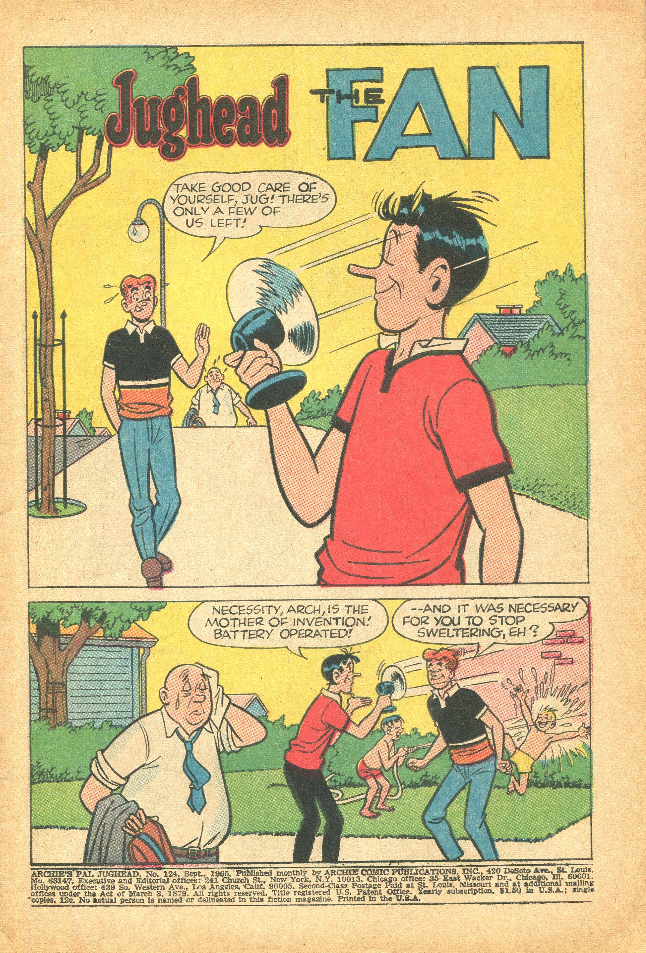 Read online Archie's Pal Jughead Comics comic -  Issue #124 - 3