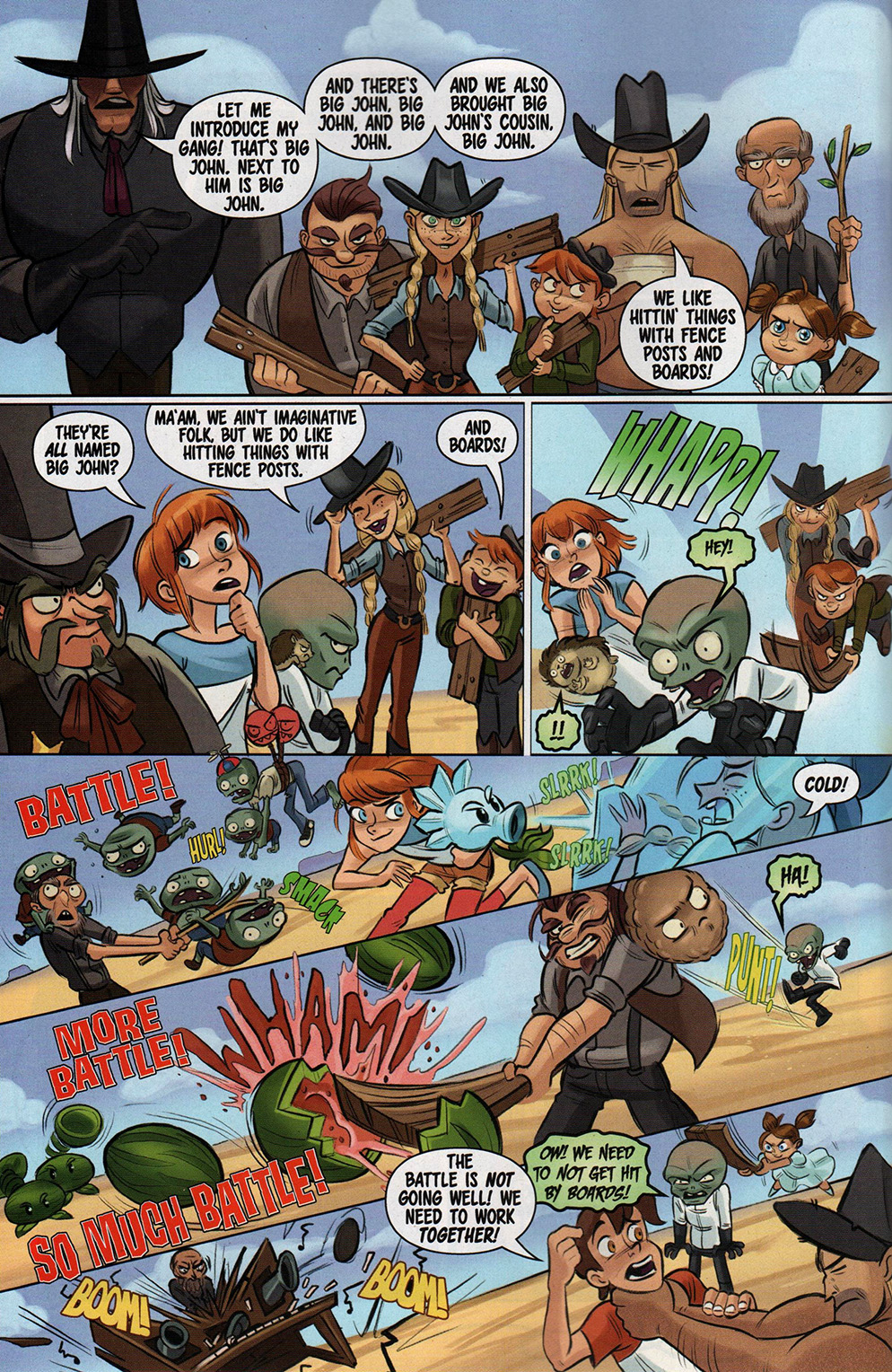Read online Free Comic Book Day 2017 comic -  Issue # Buffy - Plants vs Zombies - 22