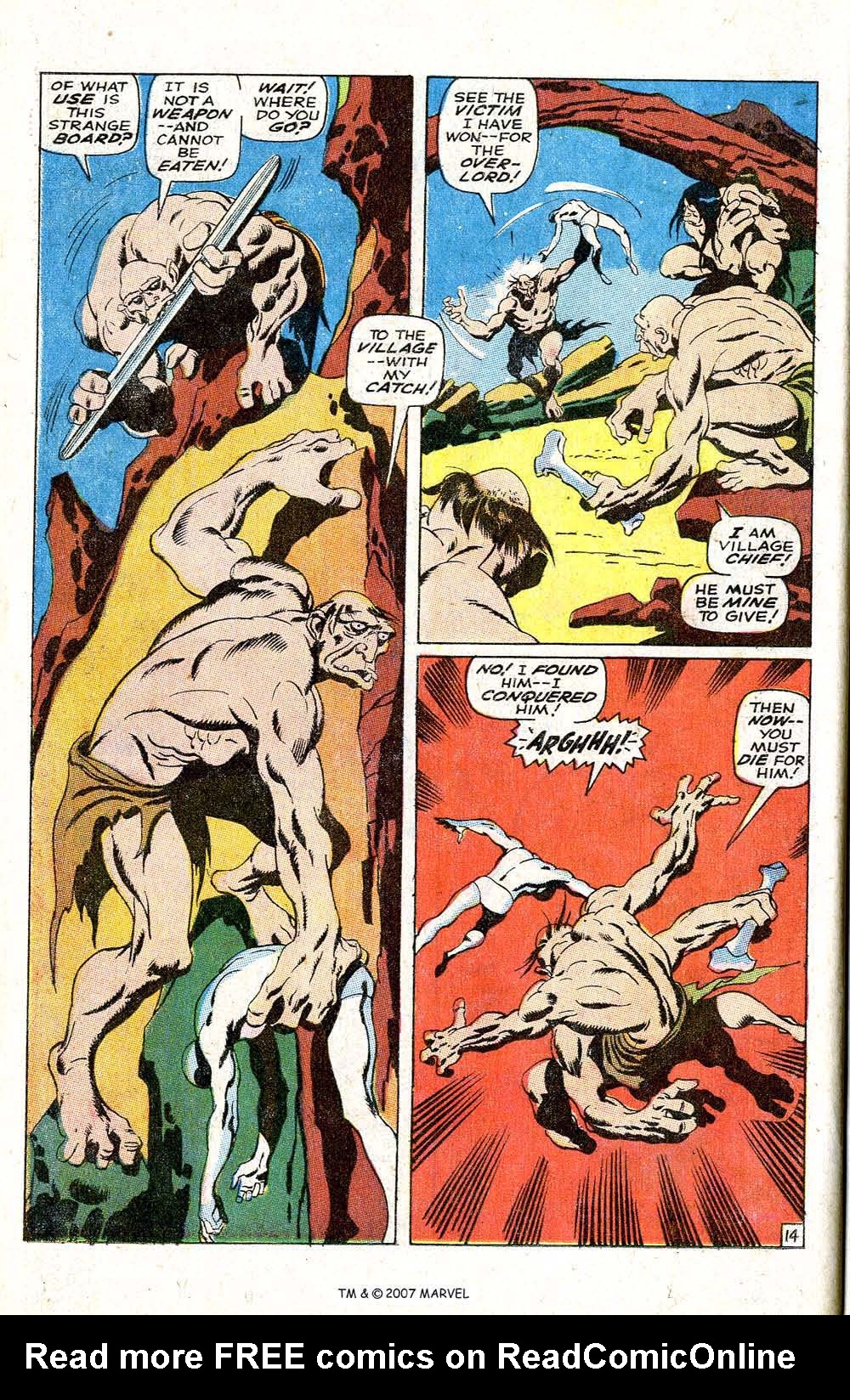 Read online Silver Surfer (1968) comic -  Issue #6 - 18