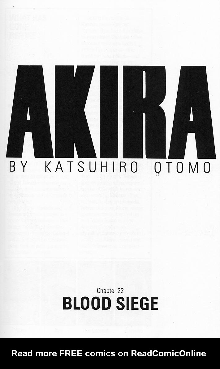 Read online Akira comic -  Issue #22 - 3