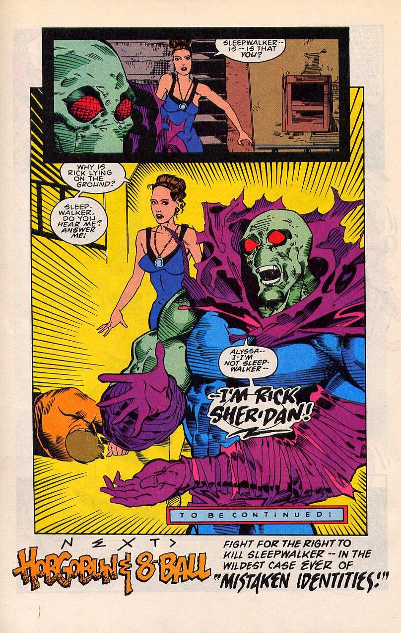 Read online Sleepwalker comic -  Issue #20 - 23
