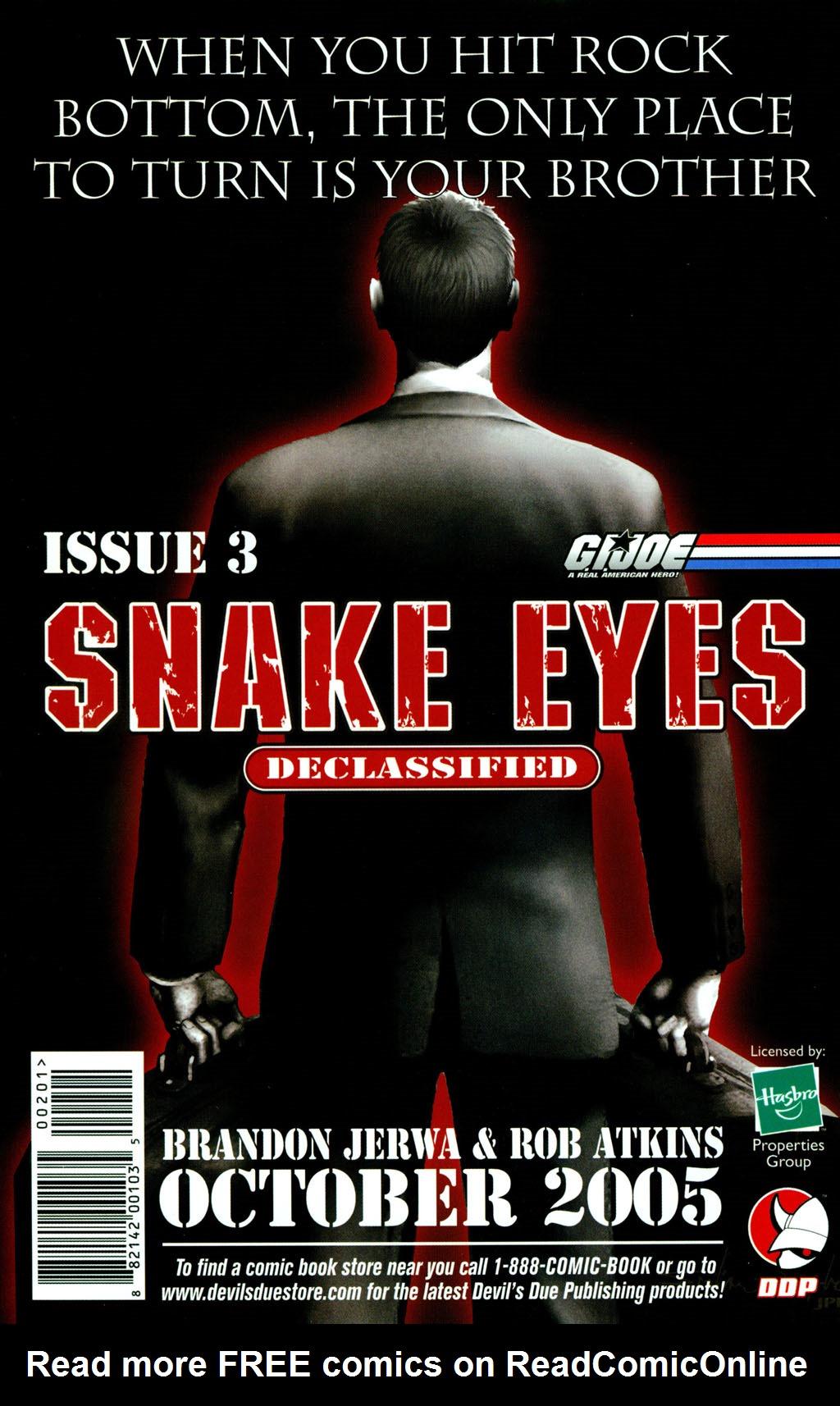 Read online Snake Eyes: Declassified comic -  Issue #2 - 24