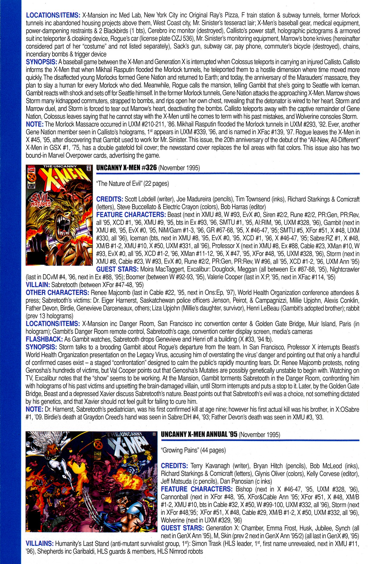 Read online Official Index to the Marvel Universe comic -  Issue #8 - 60