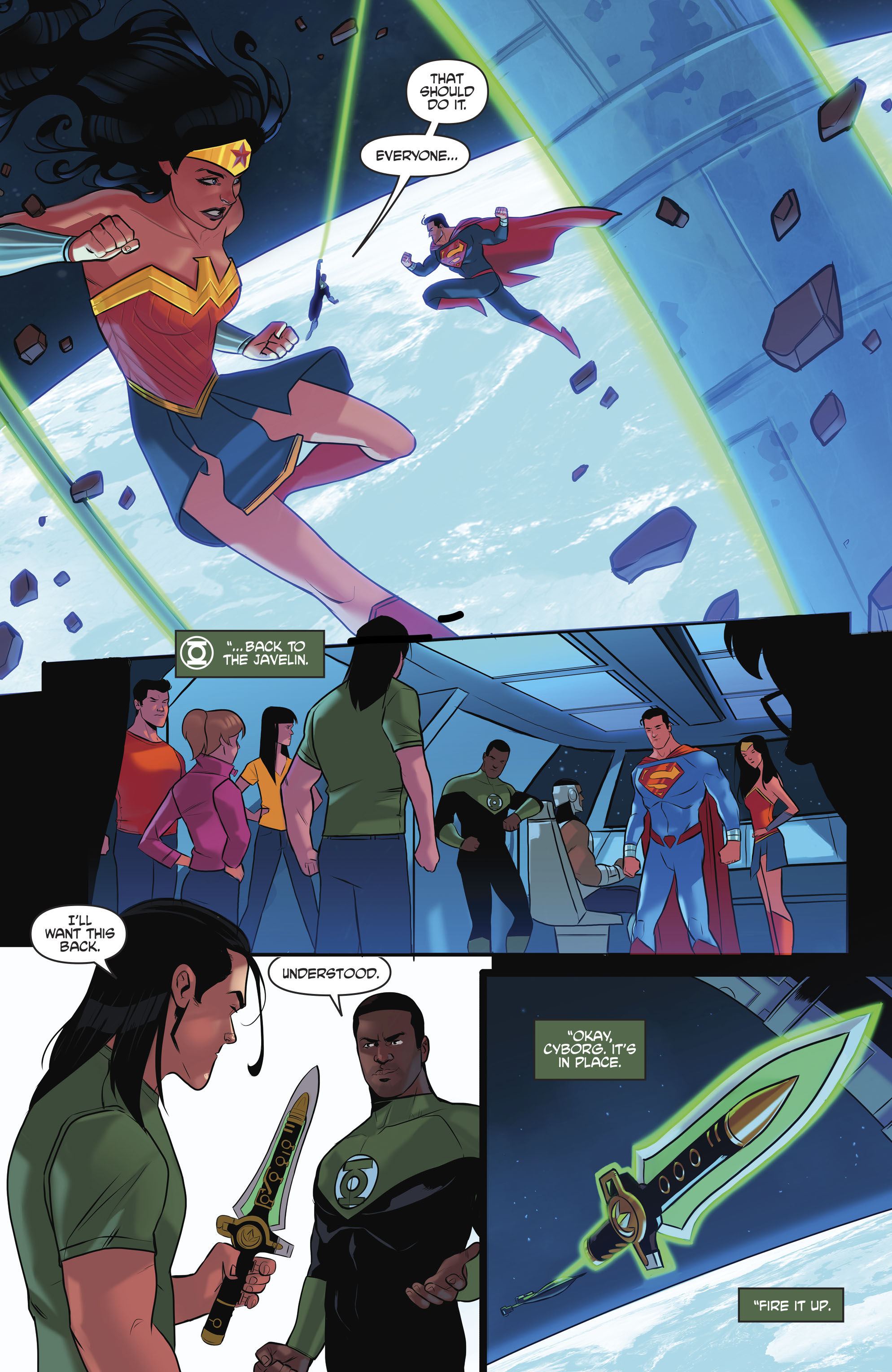 Read online Justice League/Mighty Morphin' Power Rangers comic -  Issue #4 - 8