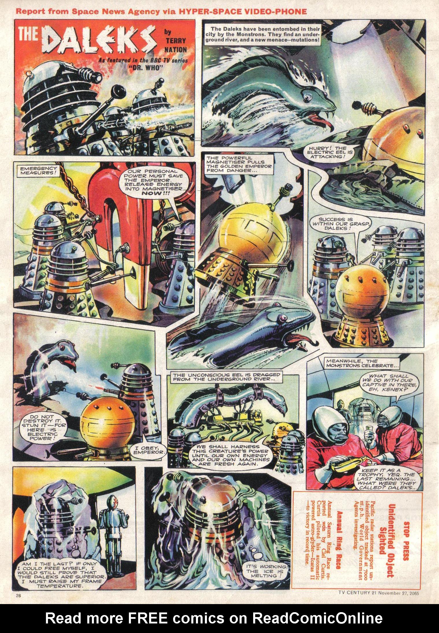 Read online TV Century 21 (TV 21) comic -  Issue #45 - 27