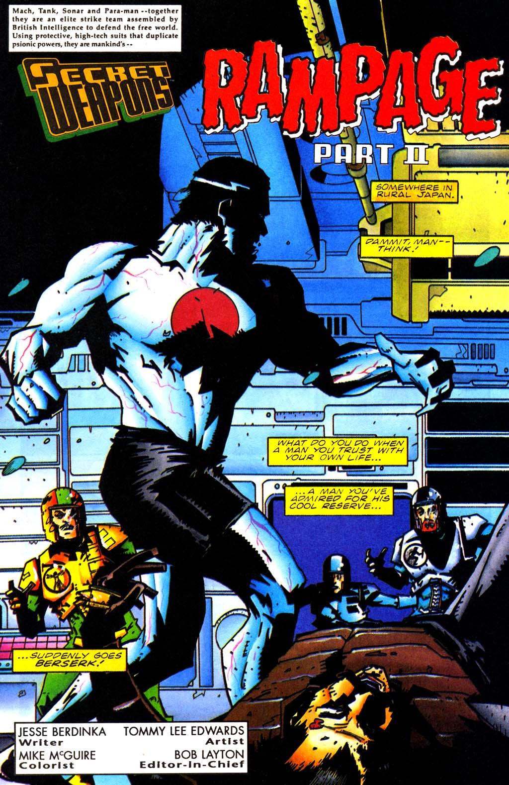 Read online Secret Weapons comic -  Issue #20 - 2