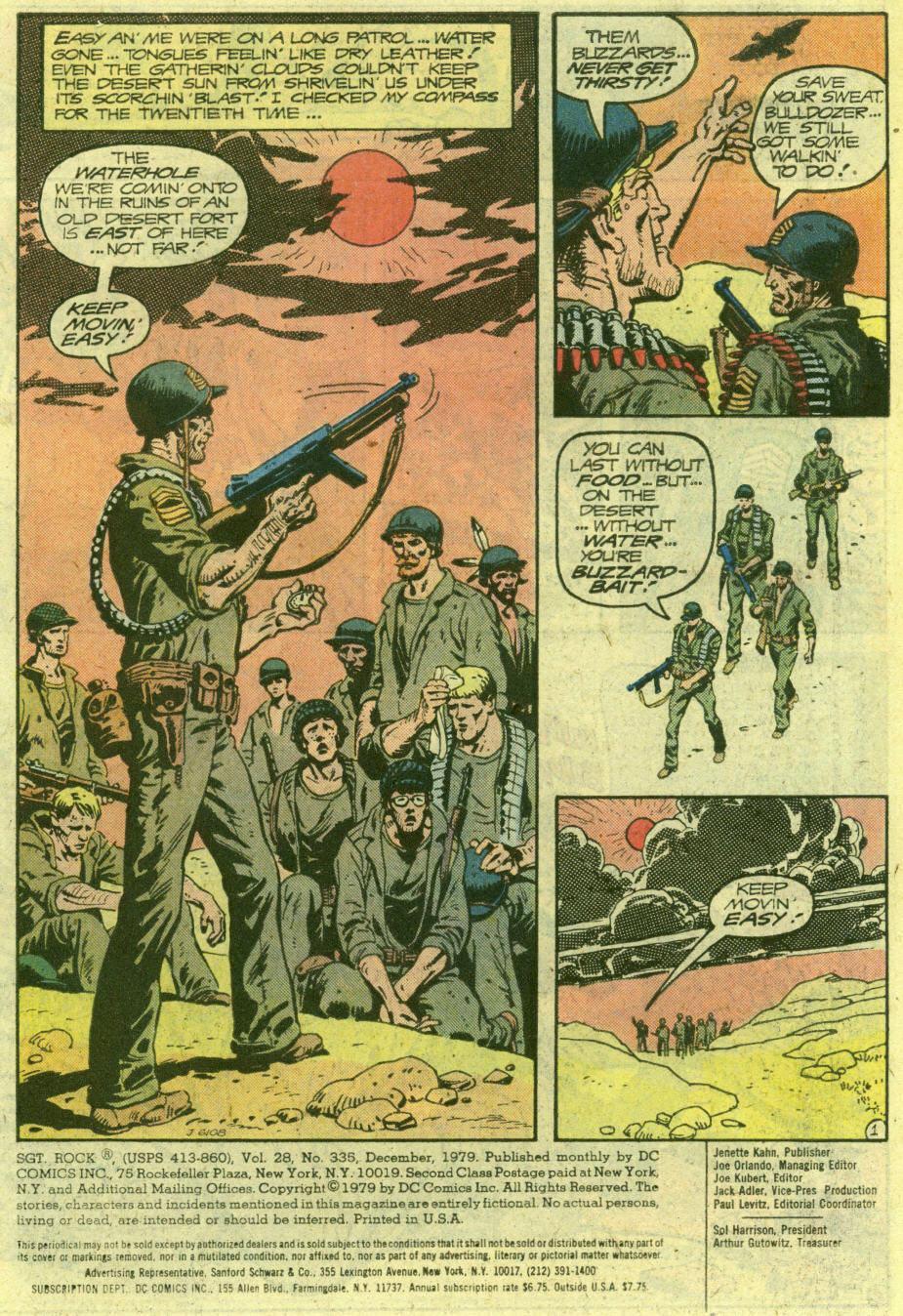 Read online Sgt. Rock comic -  Issue #335 - 3