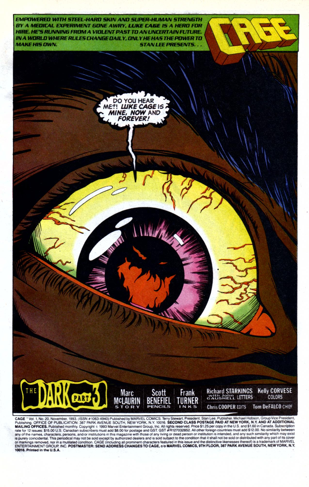 Cage (1992) issue 20 - Page 2