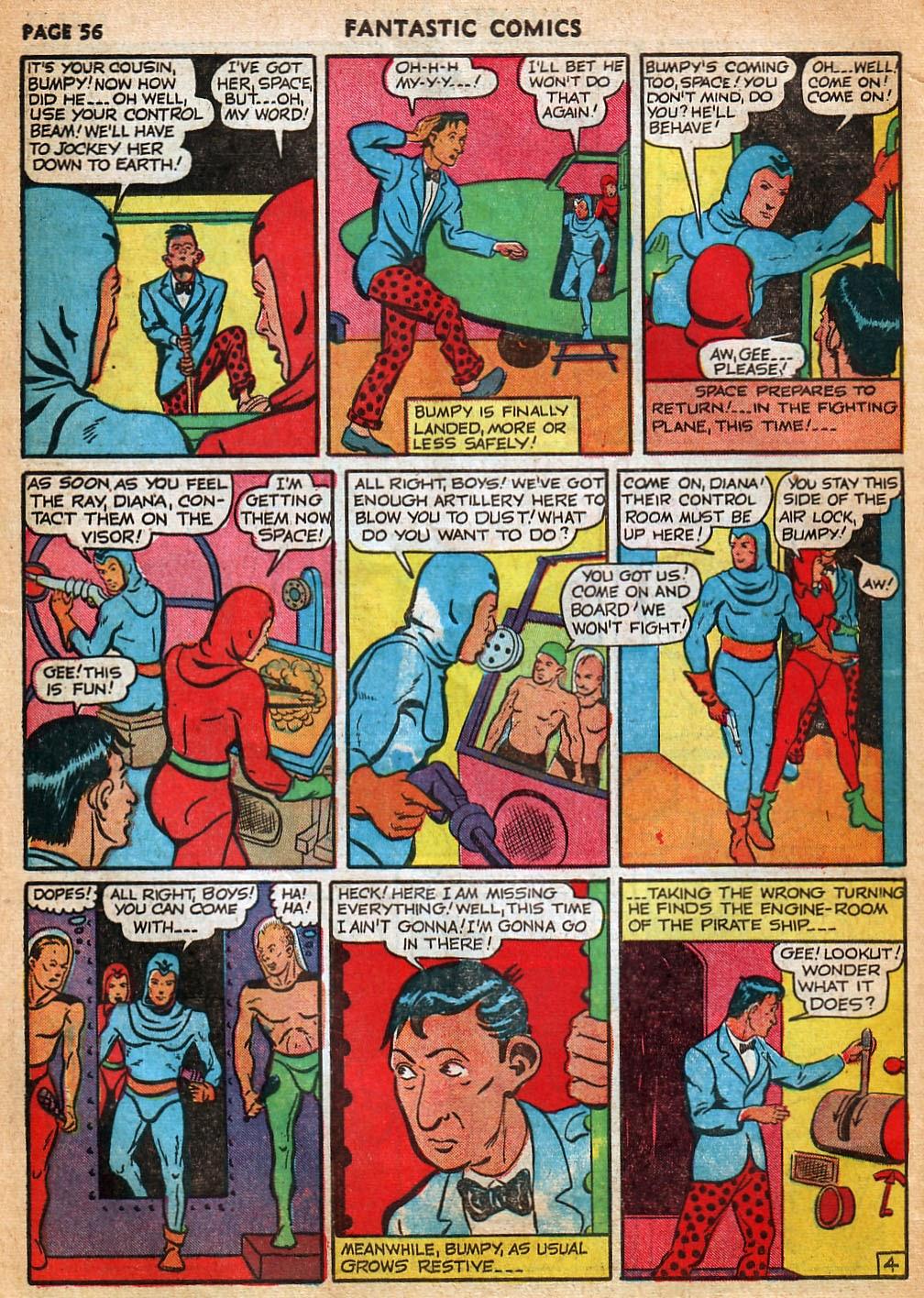 Read online Fantastic Comics comic -  Issue #22 - 57