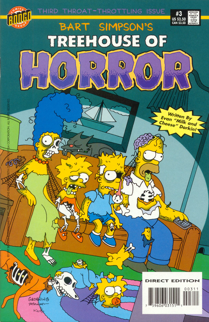 Read online Treehouse of Horror comic -  Issue #3 - 1