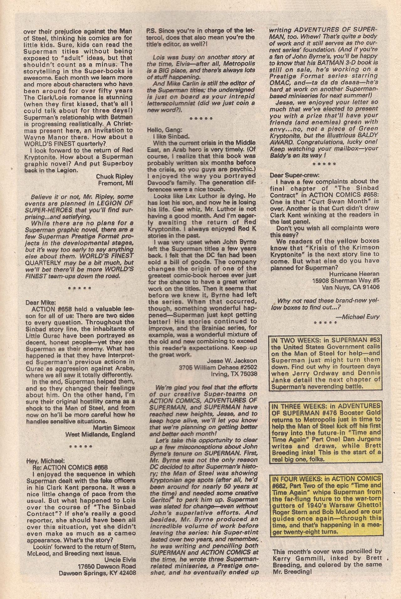 Read online Action Comics (1938) comic -  Issue #662 - 33