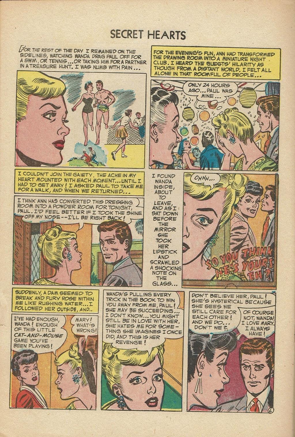 Read online Secret Hearts comic -  Issue #14 - 32