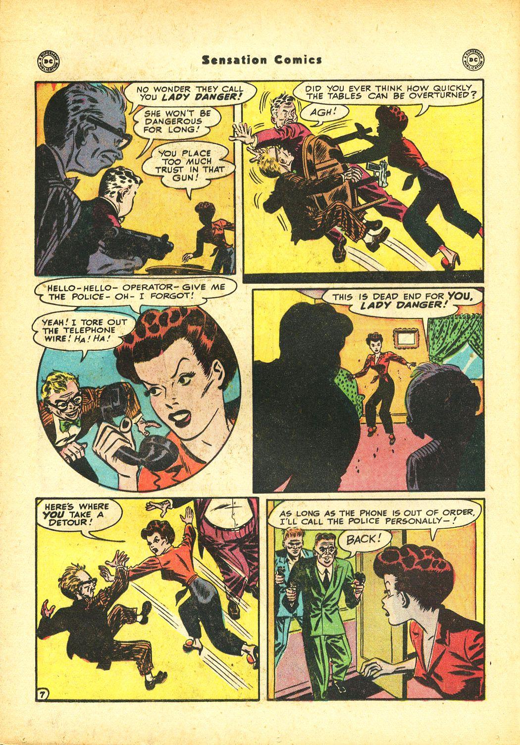 Read online Sensation (Mystery) Comics comic -  Issue #86 - 22