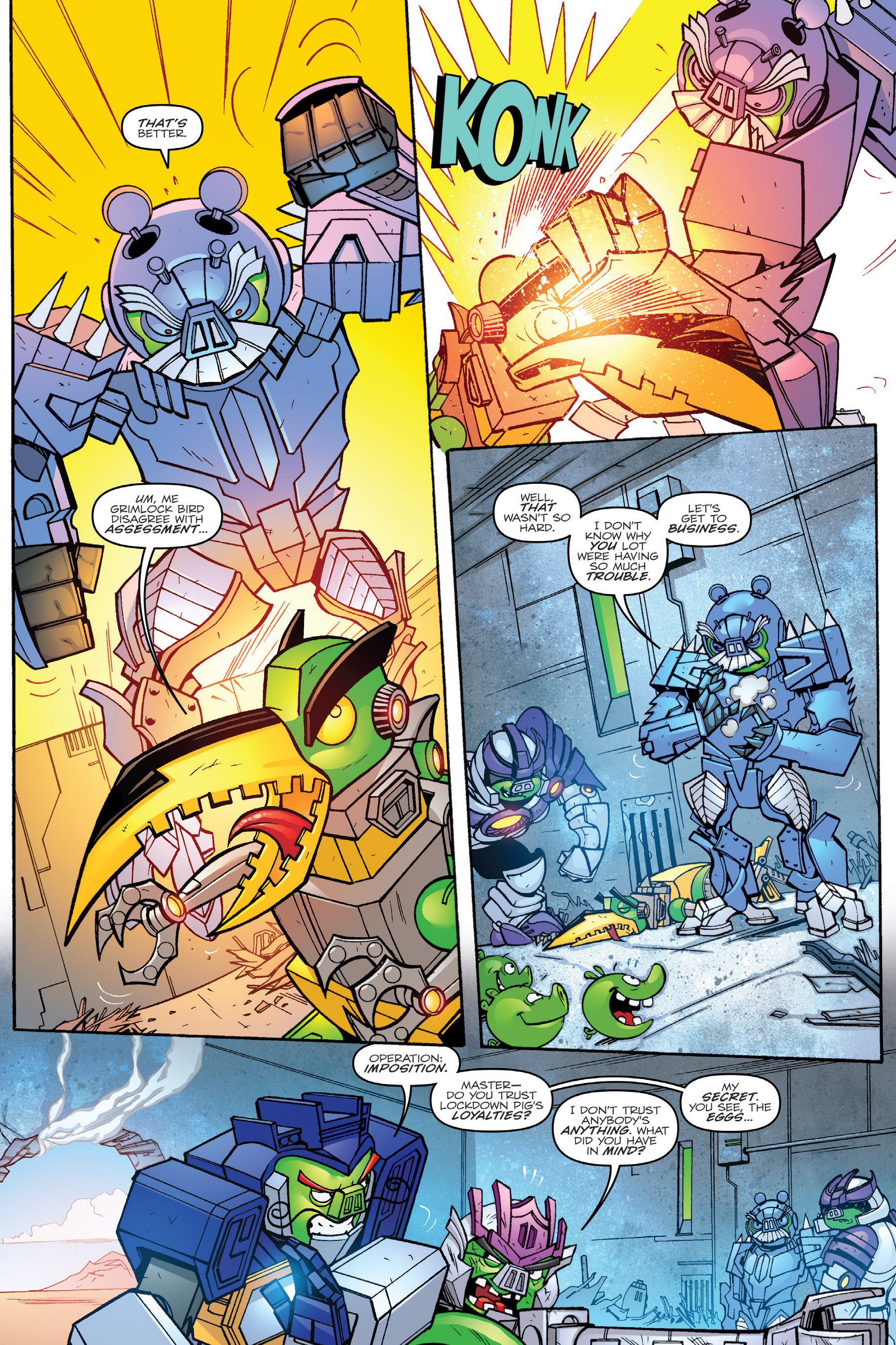 Read online Angry Birds Transformers: Age of Eggstinction comic -  Issue # Full - 41