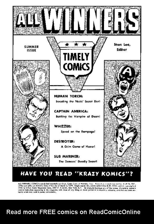 Read online All-Winners Comics comic -  Issue #5 - 3
