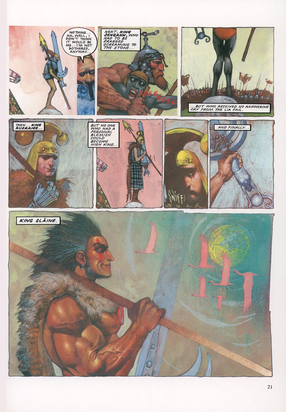 Read online Slaine: The Horned God (1993) comic -  Issue #4 - 22