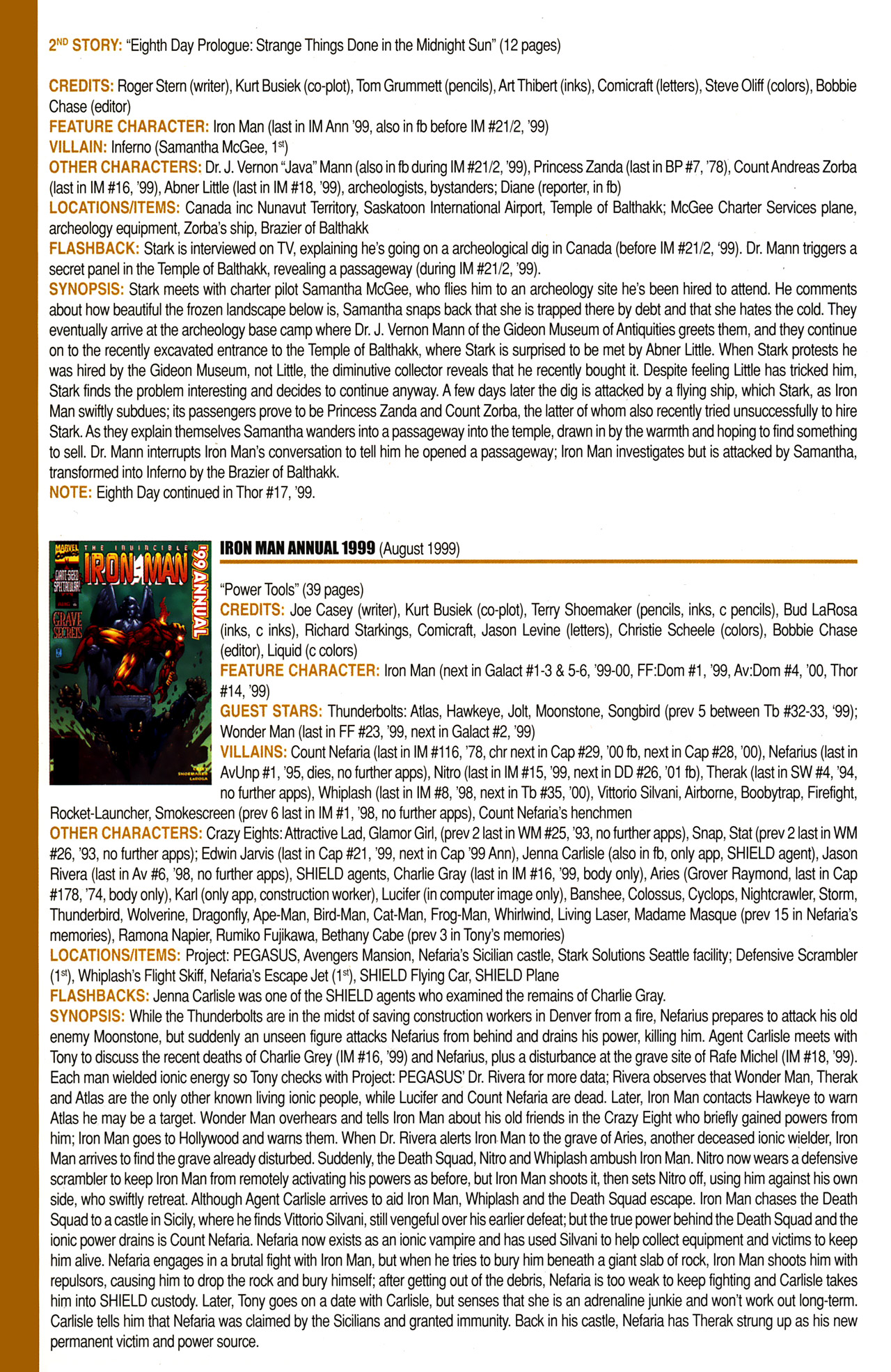 Read online Official Index to the Marvel Universe comic -  Issue #10 - 38