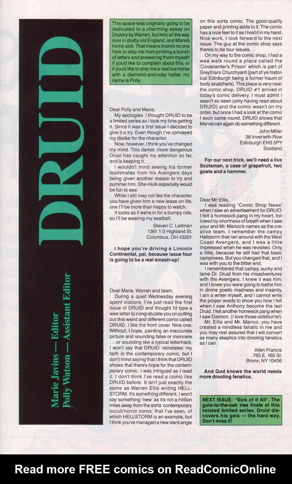 Read online Druid comic -  Issue #3 - 25