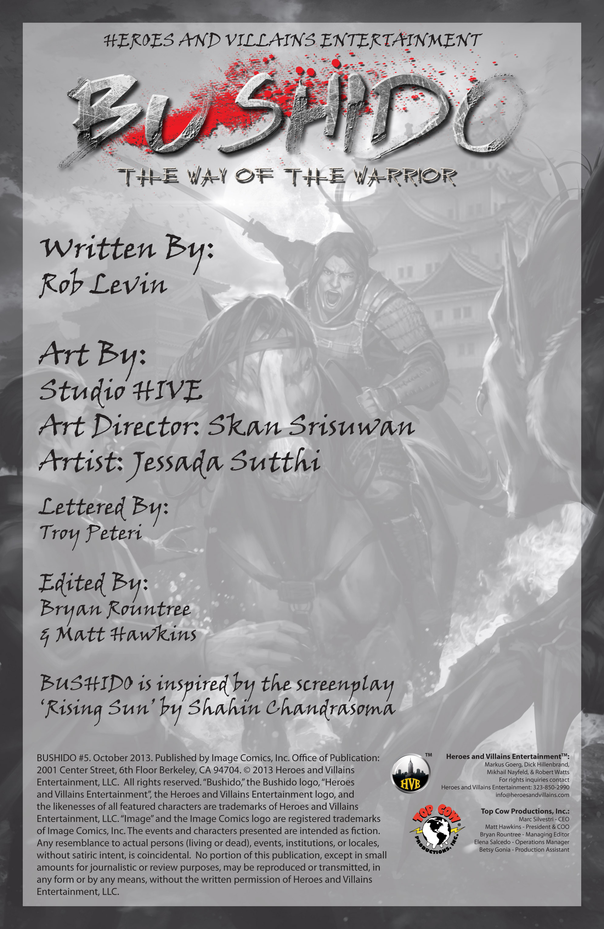 Read online Bushido: The Way of the Warrior comic -  Issue #5 - 2