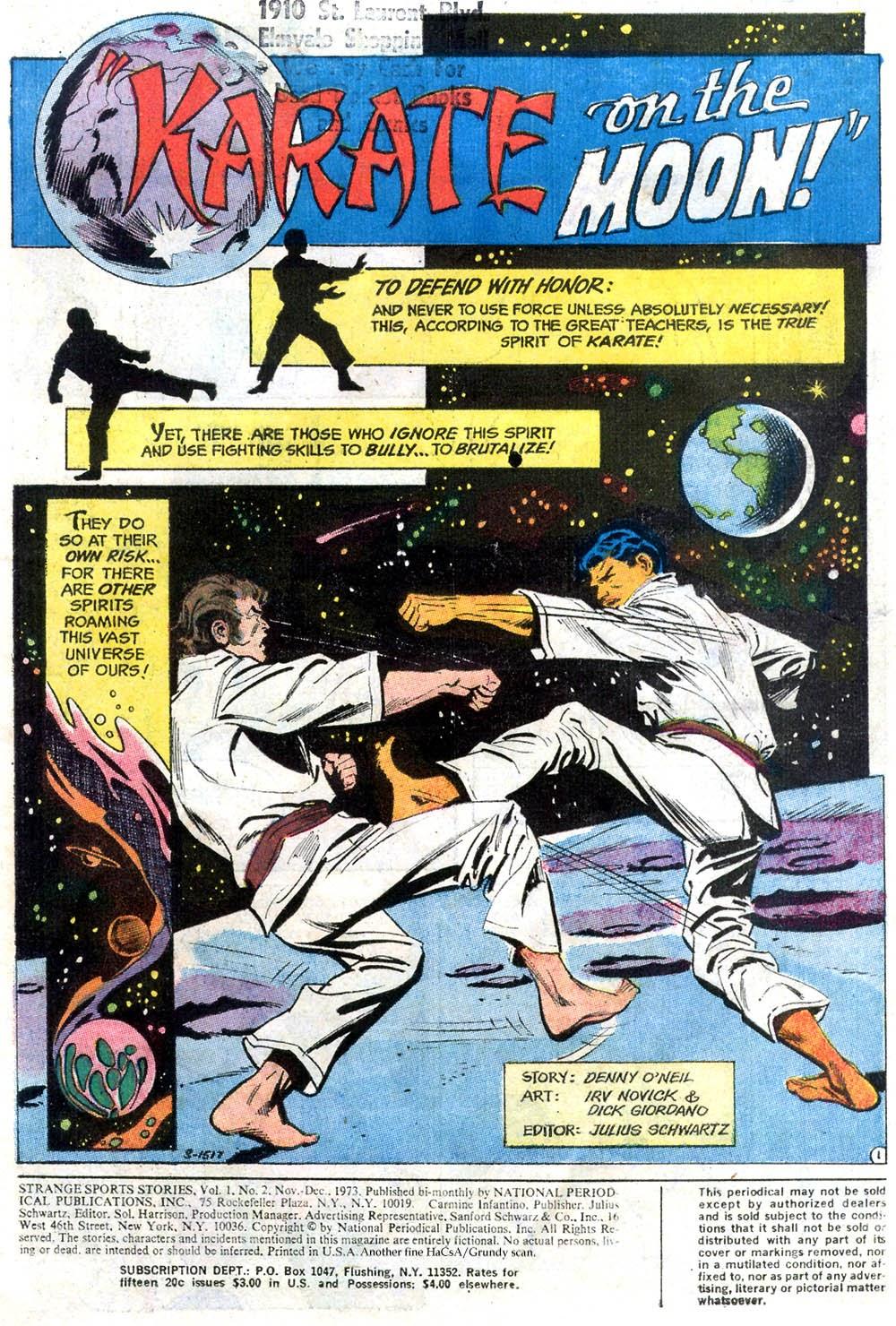 Read online Strange Sports Stories (1973) comic -  Issue #2 - 2