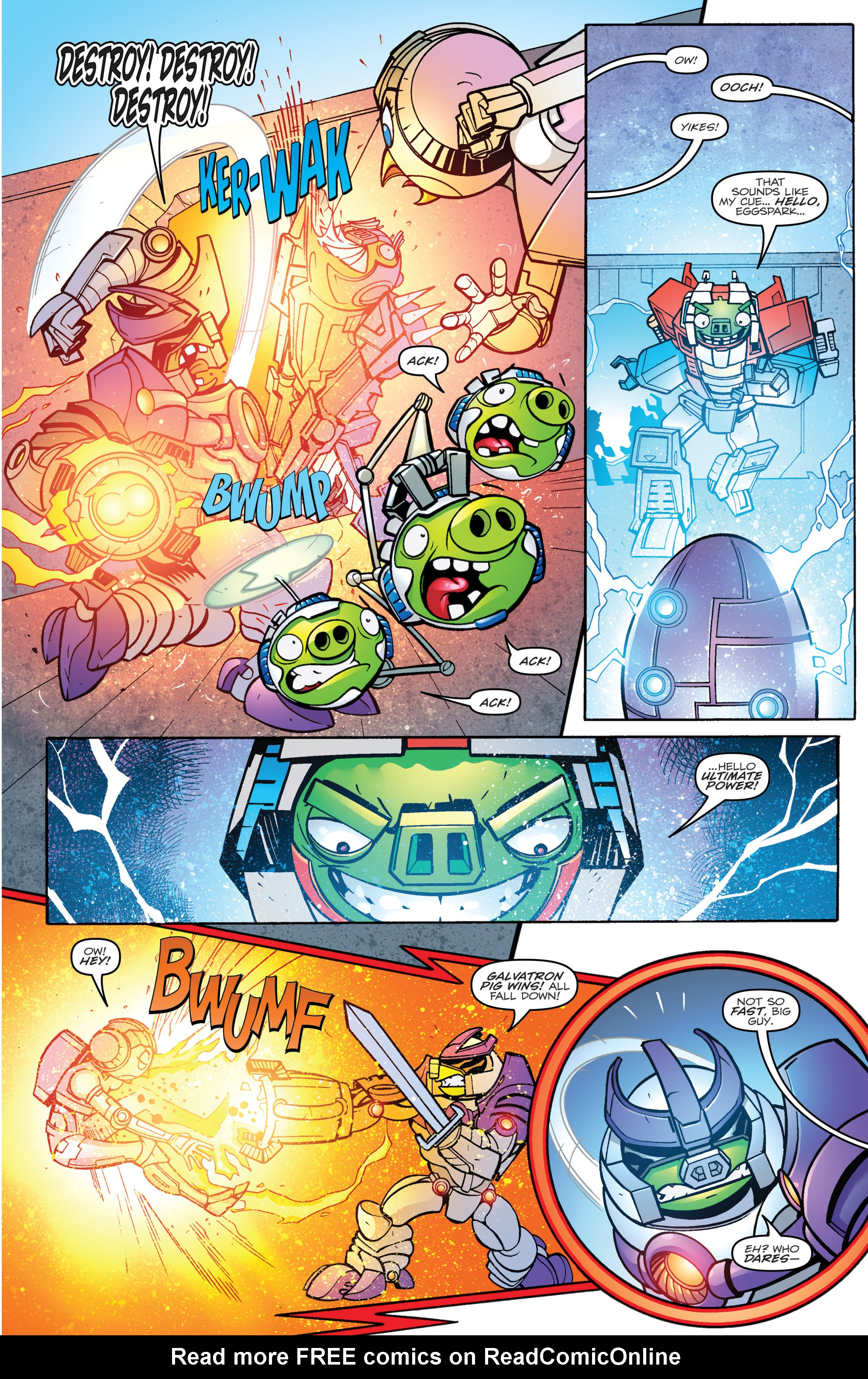 Read online Angry Birds Transformers comic -  Issue #4 - 15