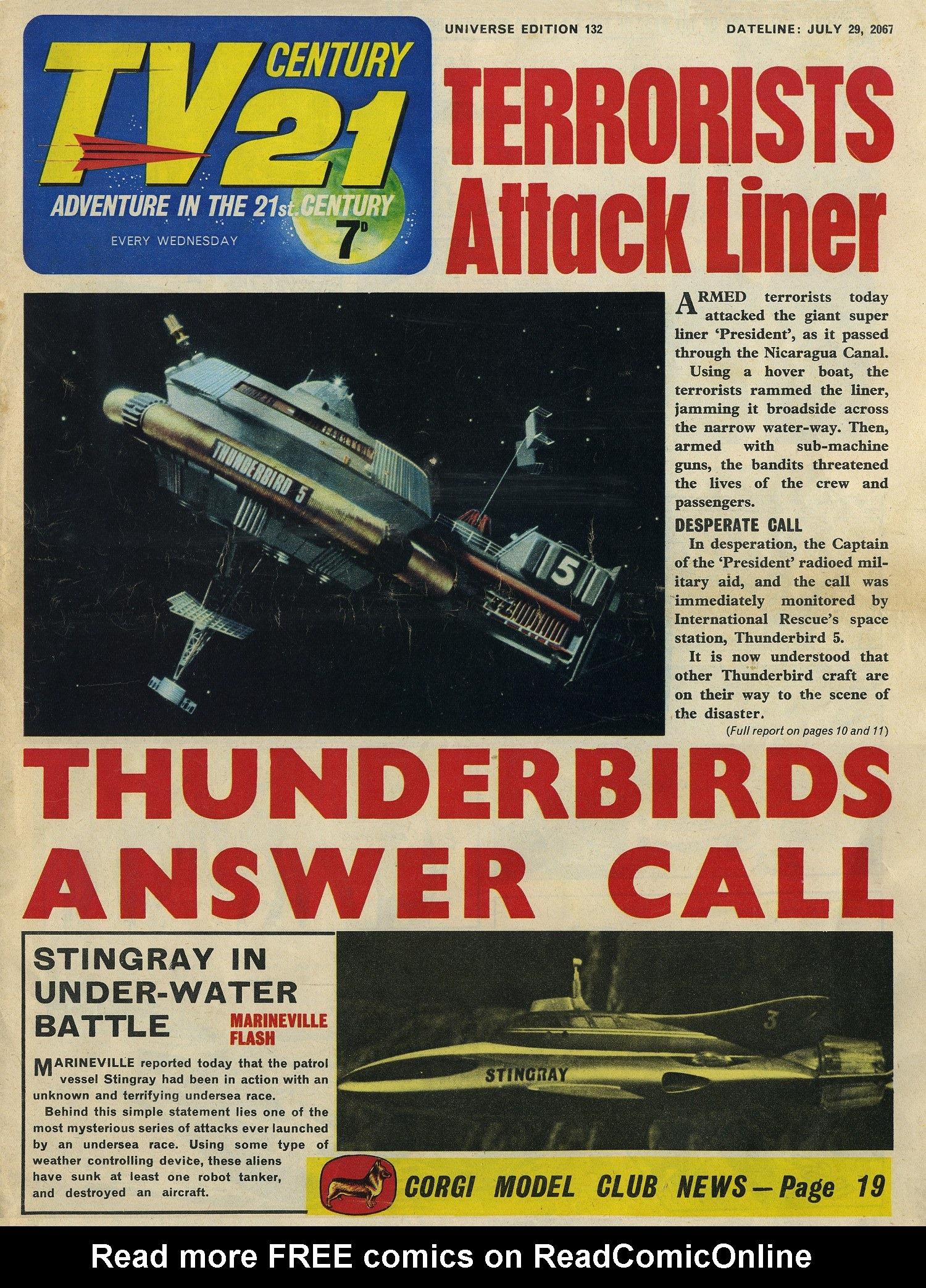 Read online TV Century 21 (TV 21) comic -  Issue #132 - 1