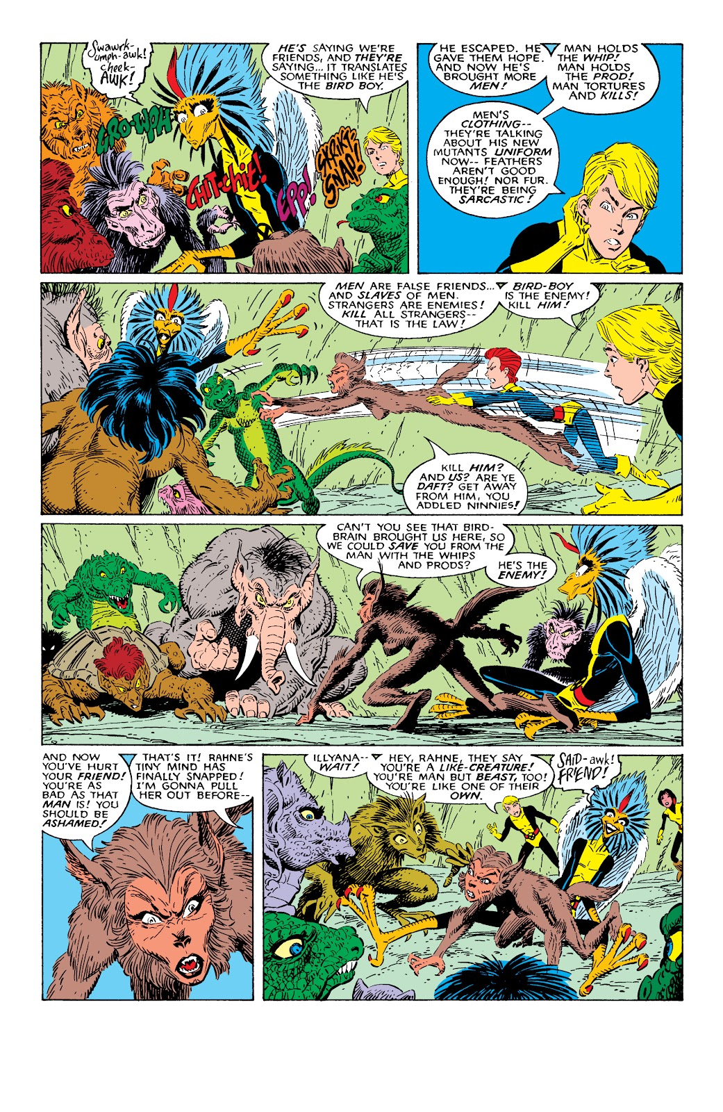 Read online X-Men Milestones: Fall of the Mutants comic -  Issue # TPB (Part 1) - 100