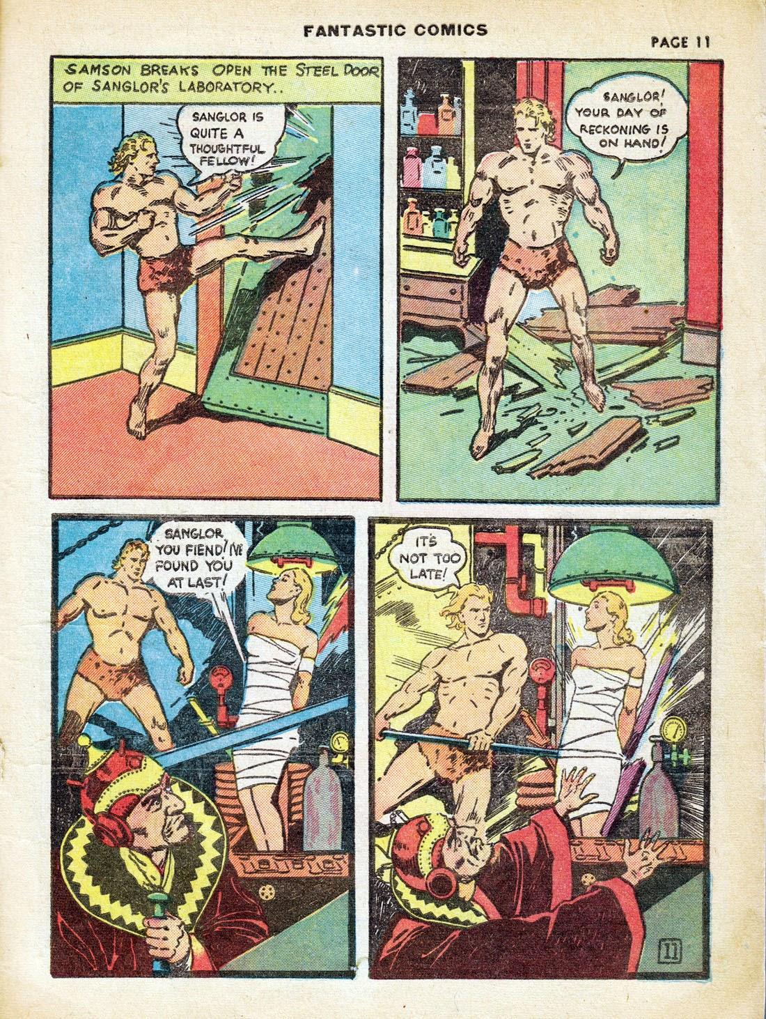 Read online Fantastic Comics comic -  Issue #7 - 13