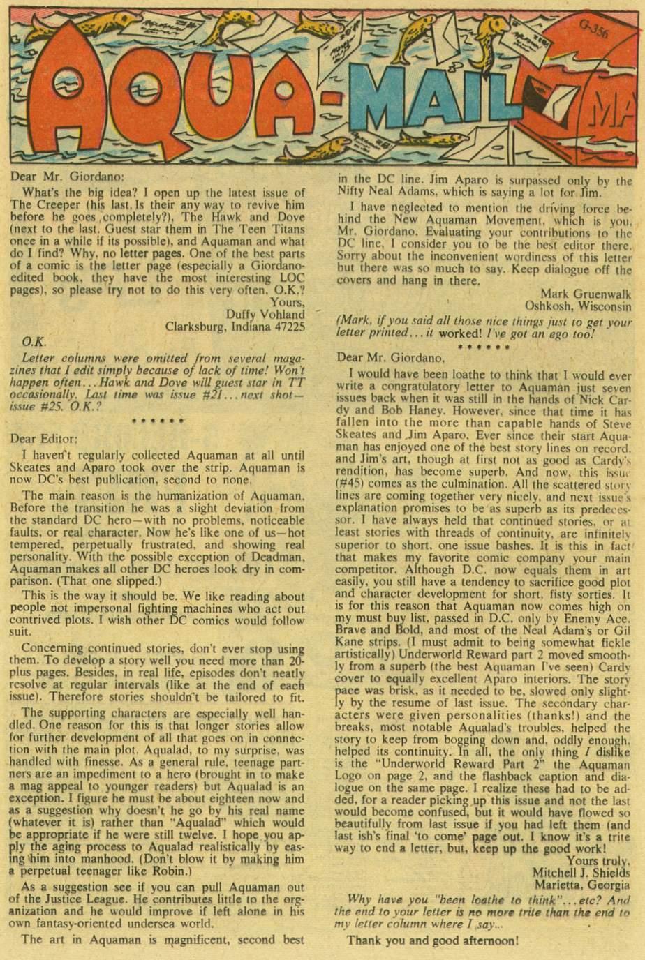 Read online Aquaman (1962) comic -  Issue #47 - 22