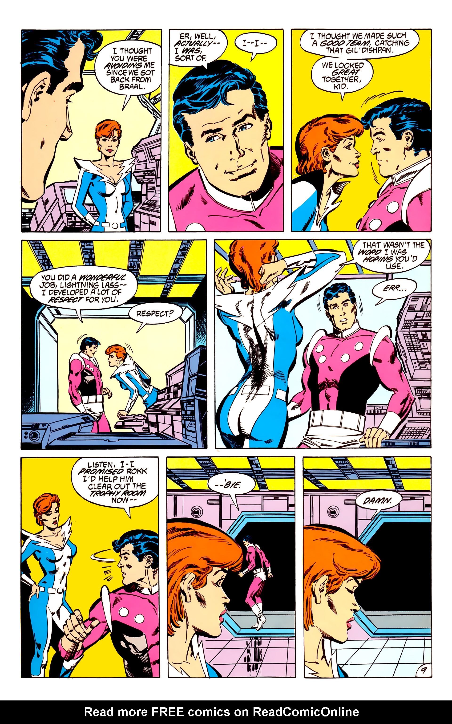 Legion of Super-Heroes (1984) 56 Page 9