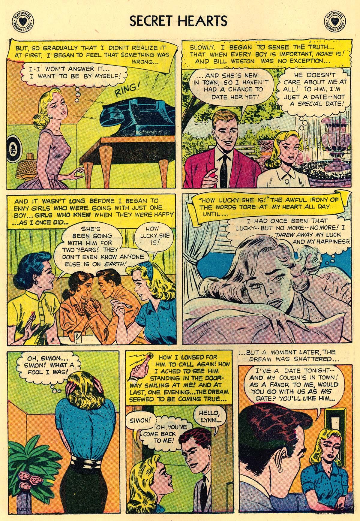 Read online Secret Hearts comic -  Issue #43 - 22