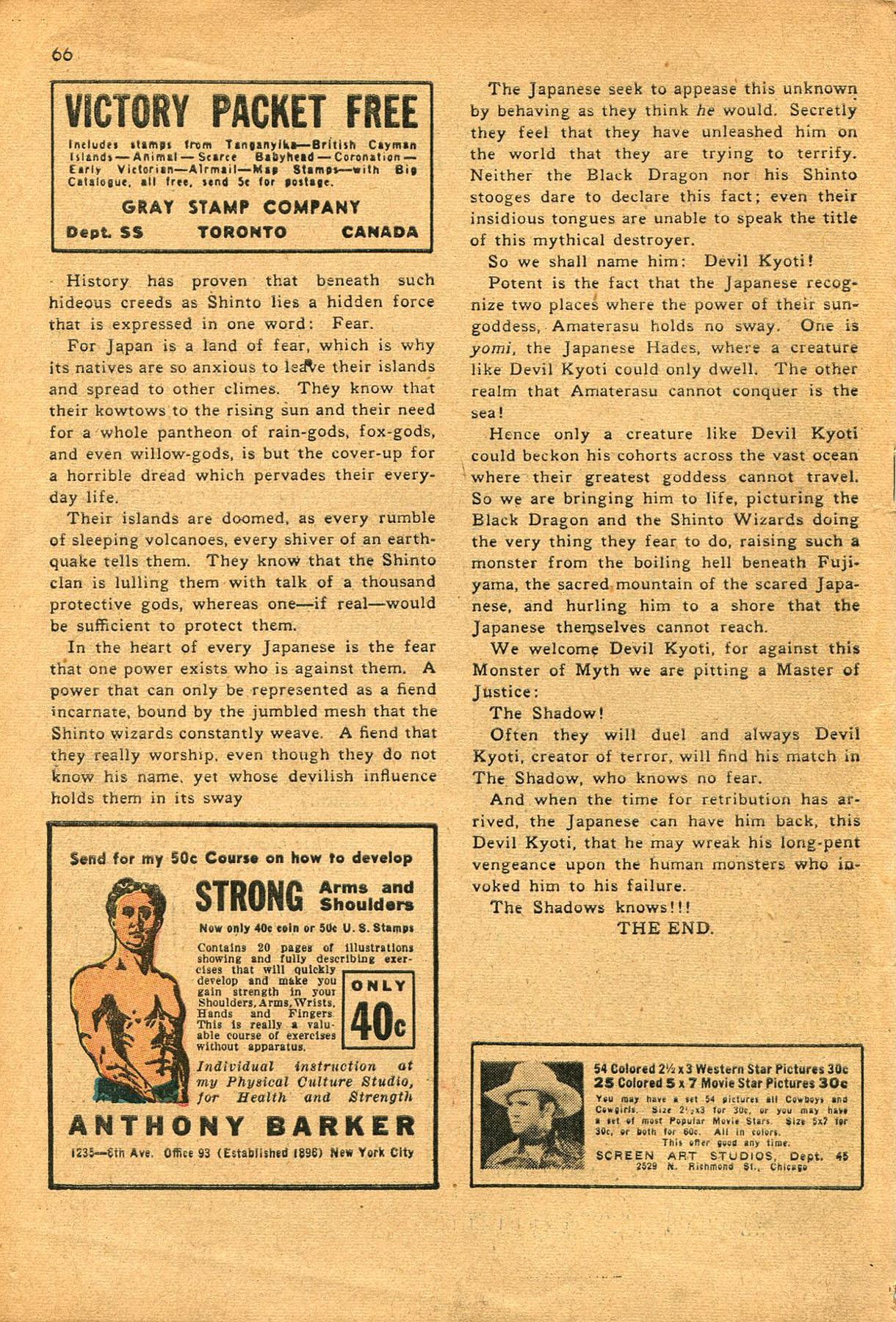Read online Shadow Comics comic -  Issue #23 - 66