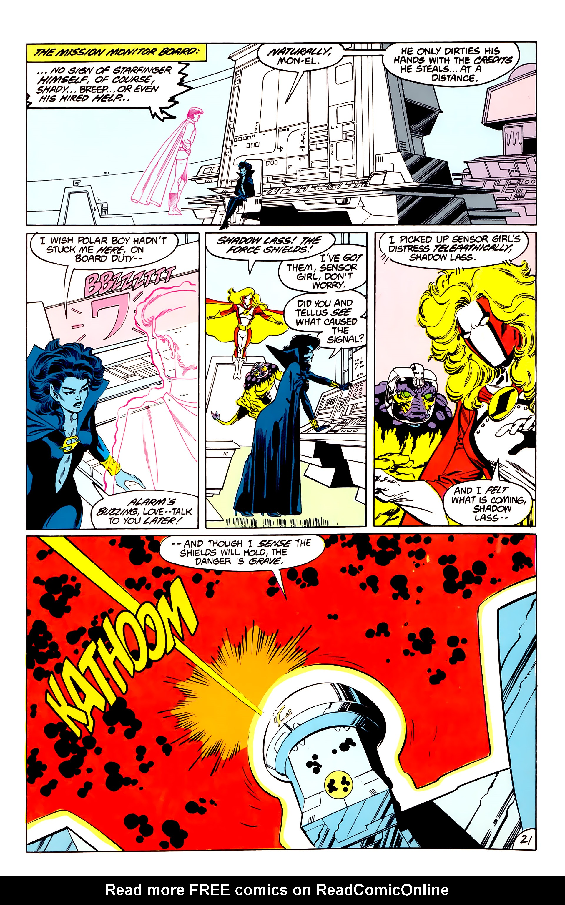 Legion of Super-Heroes (1984) 40 Page 21