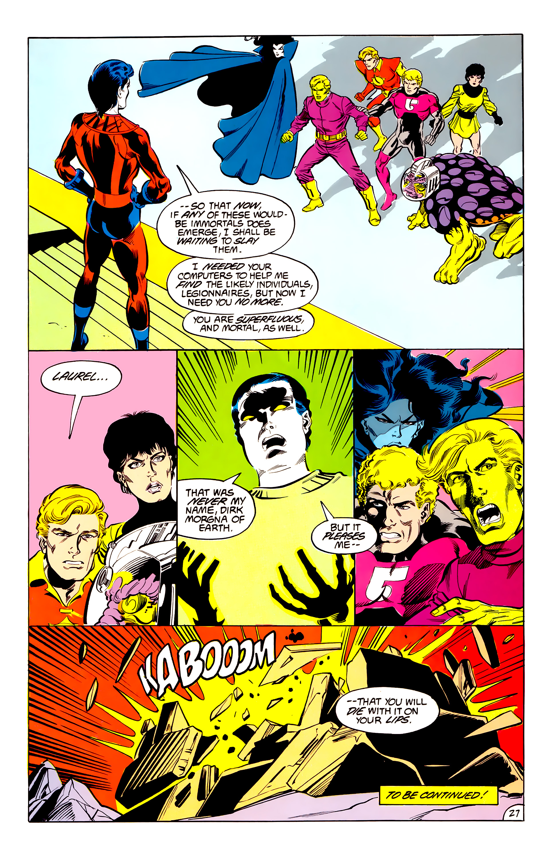 Legion of Super-Heroes (1984) 42 Page 27