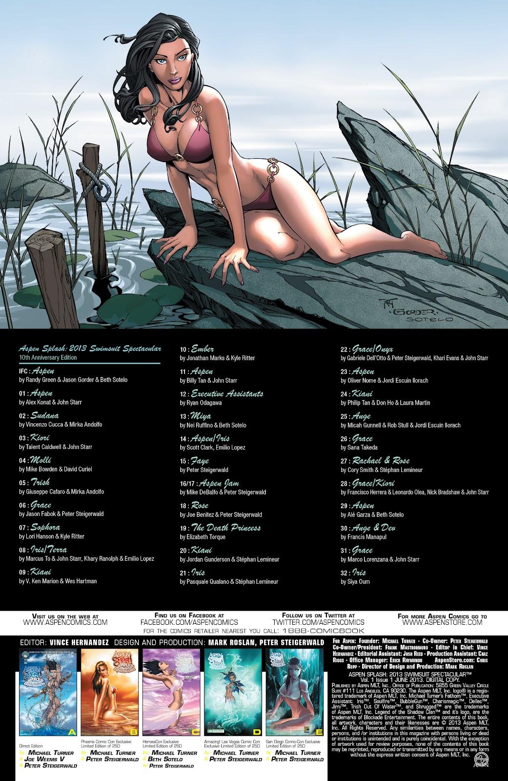 Read online Aspen Splash: Swimsuit Spectacular comic -  Issue # Issue 2013 - 2