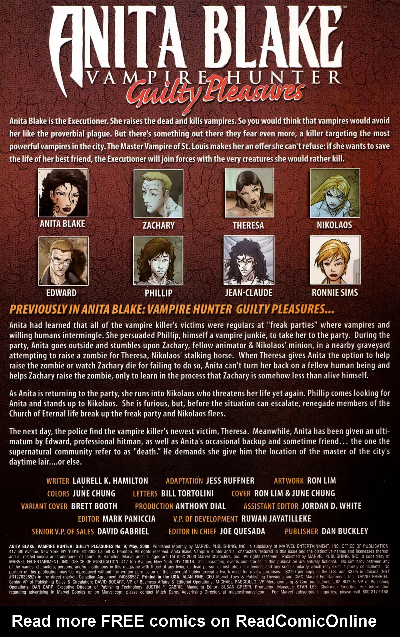 Read online Anita Blake, Vampire Hunter: Guilty Pleasures comic -  Issue #9 - 2
