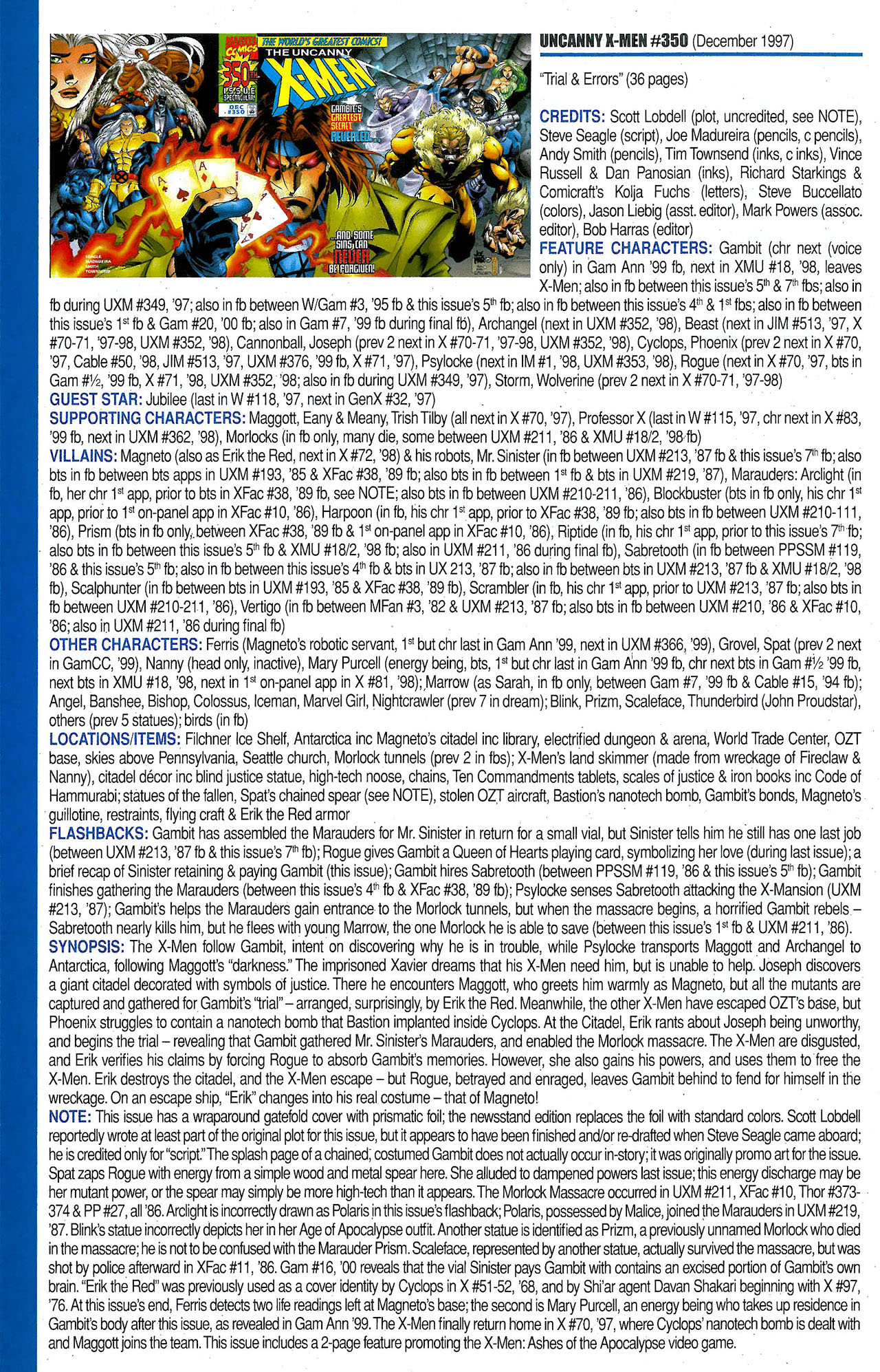 Read online Official Index to the Marvel Universe comic -  Issue #9 - 52