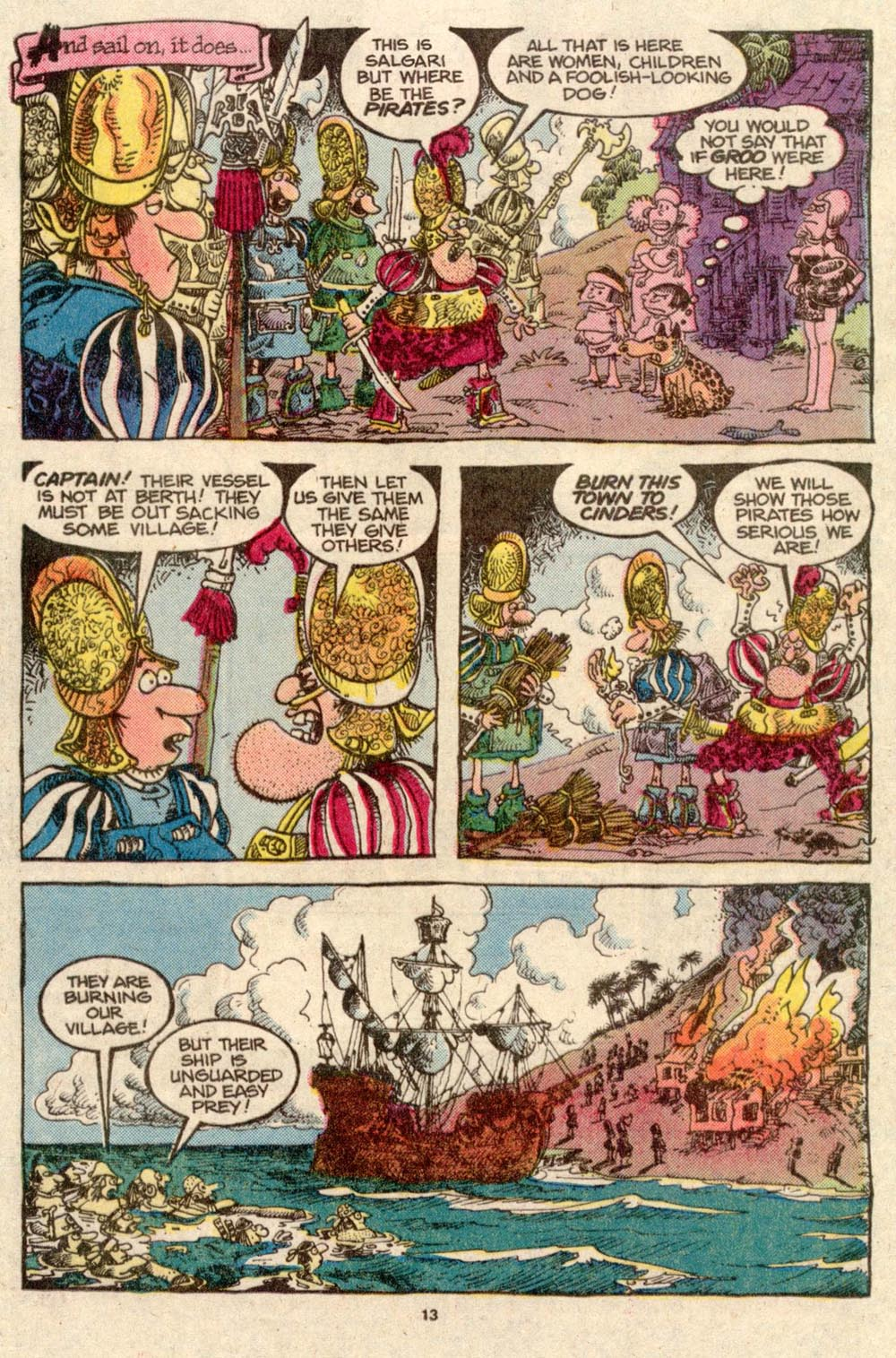 Read online Sergio Aragonés Groo the Wanderer comic -  Issue #33 - 13