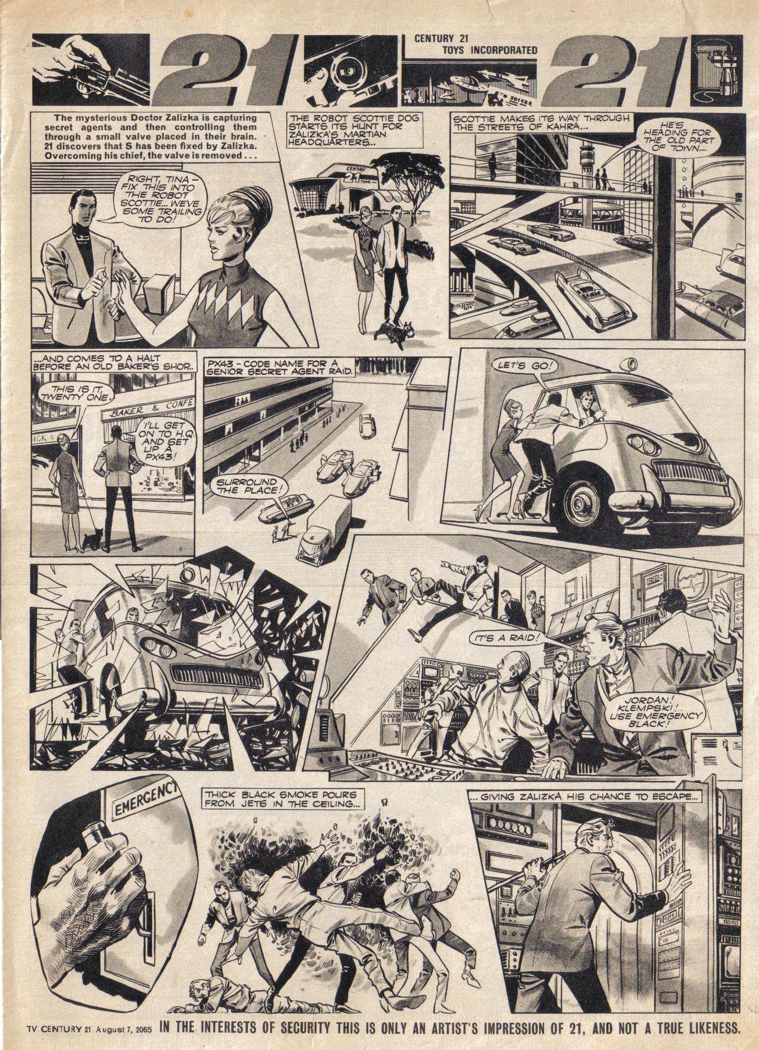 Read online TV Century 21 (TV 21) comic -  Issue #29 - 8