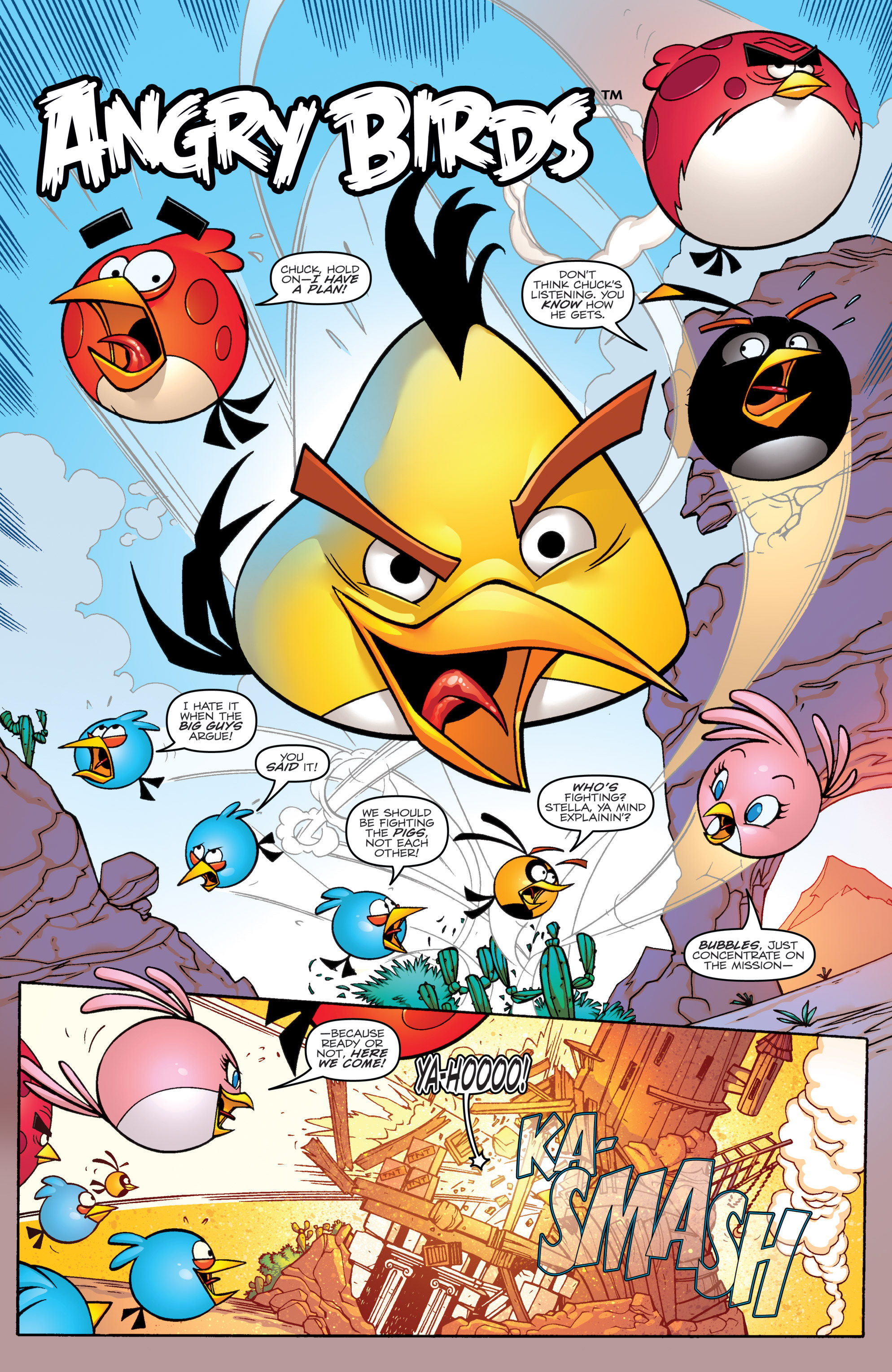 Read online Angry Birds Transformers comic -  Issue #1 - 8