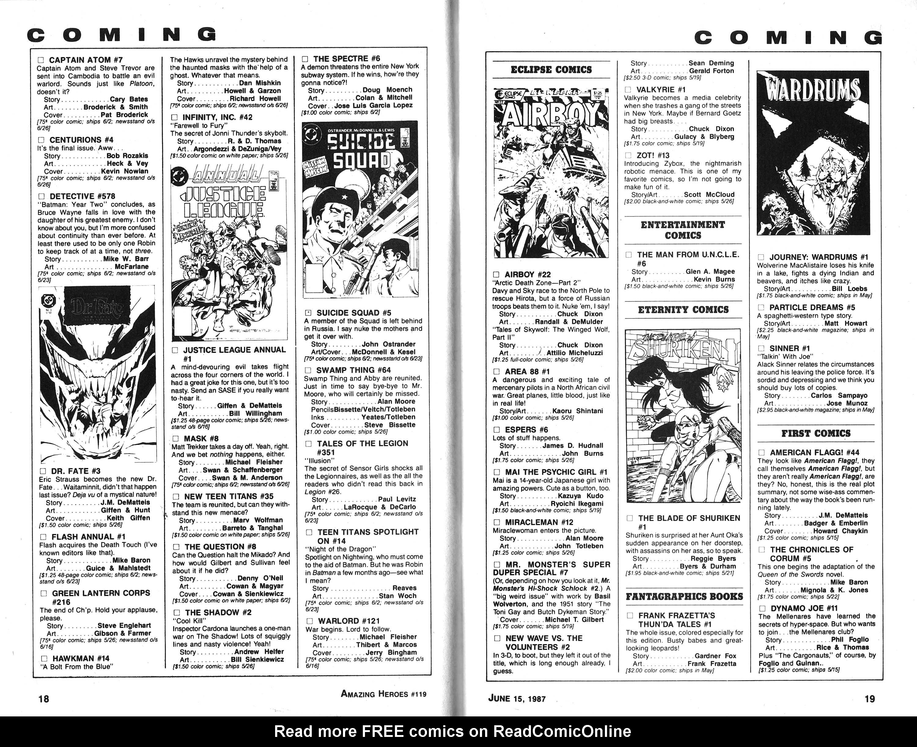 Read online Amazing Heroes comic -  Issue #119 - 10