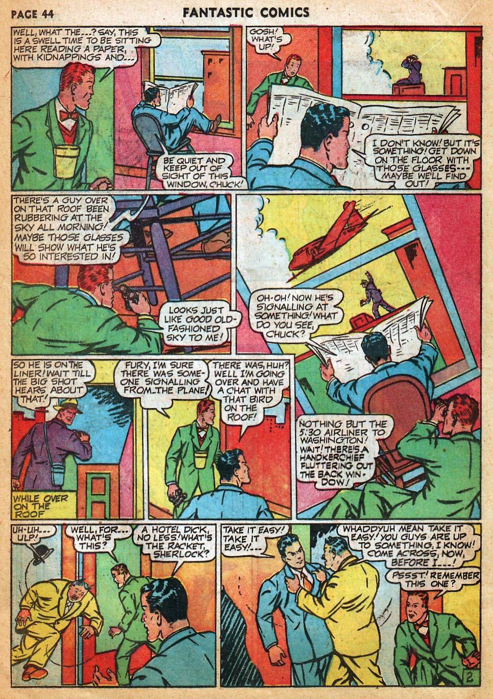 Read online Fantastic Comics comic -  Issue #22 - 45