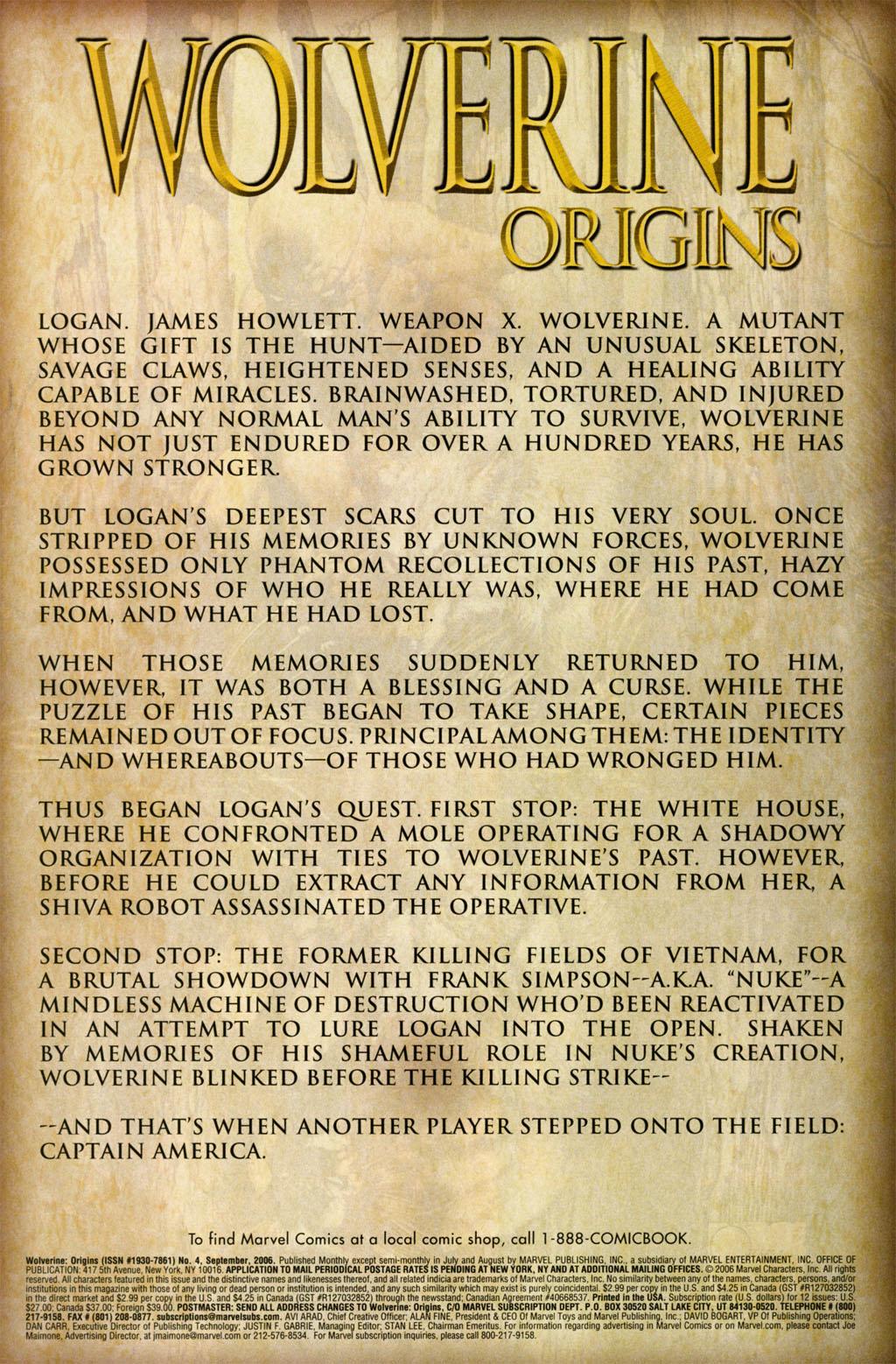 Read online Wolverine: Origins comic -  Issue #4 - 3