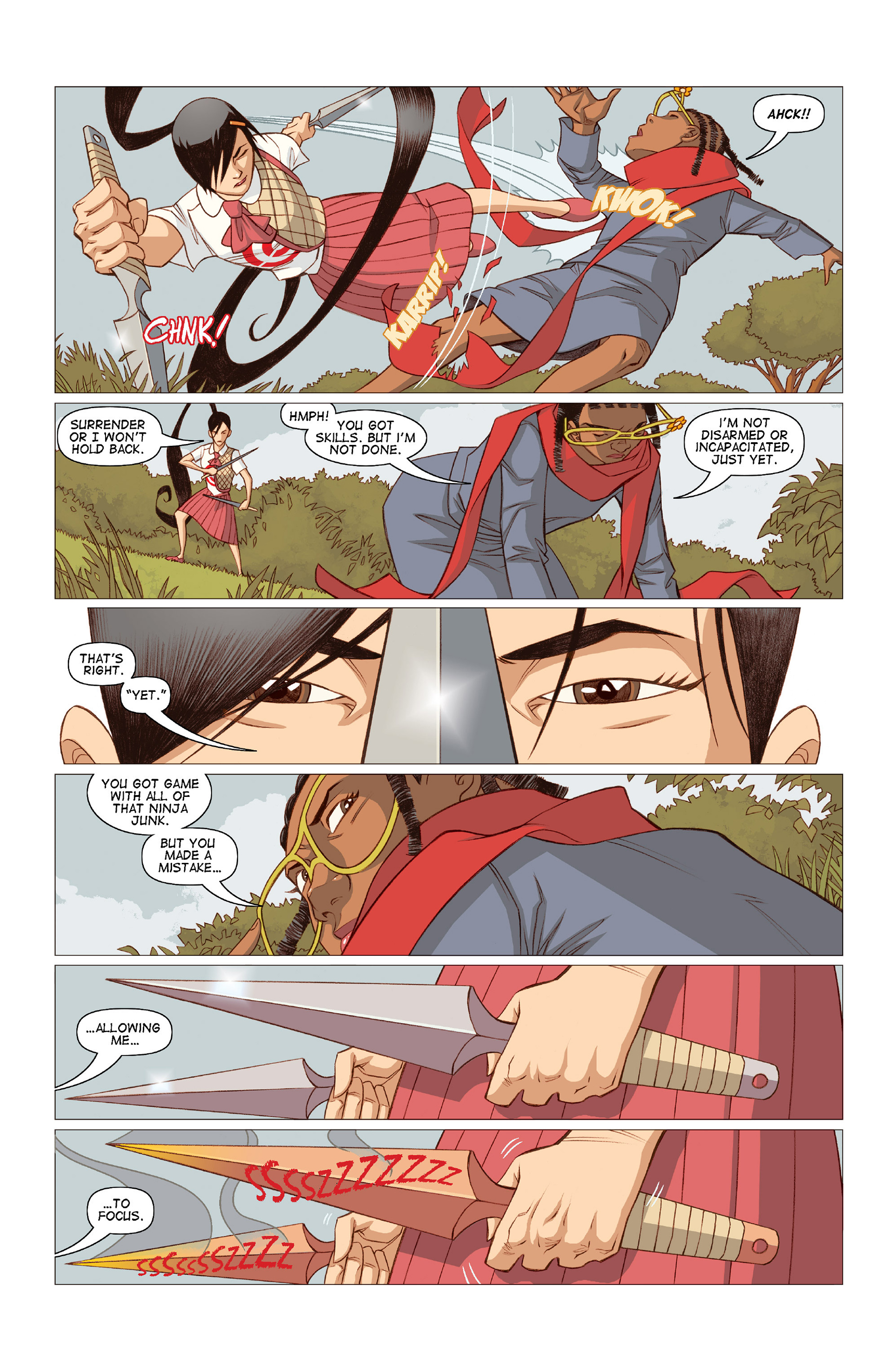 Read online Five Weapons comic -  Issue #10 - 15