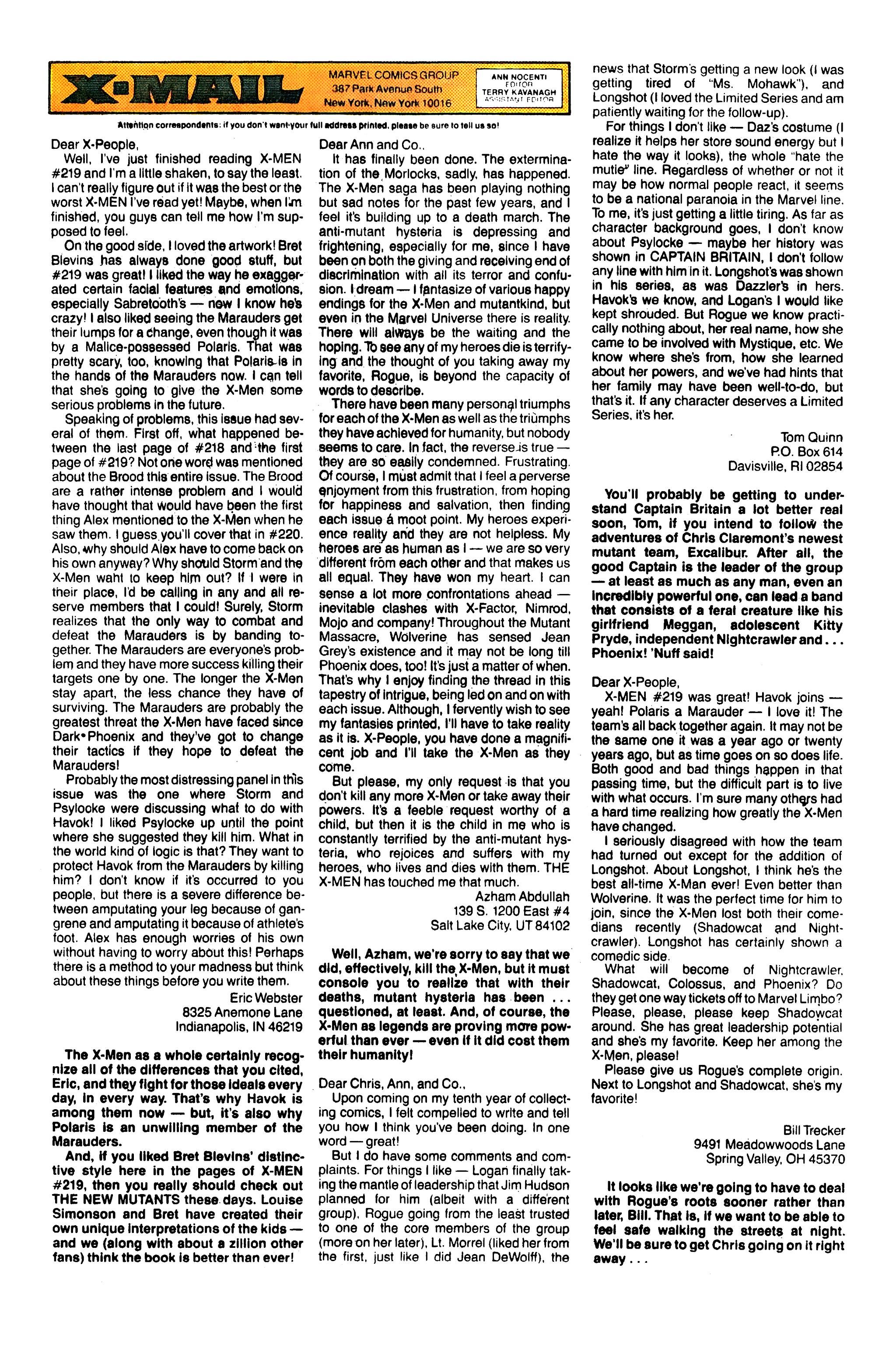 Read online Uncanny X-Men (1963) comic -  Issue #230 - 24