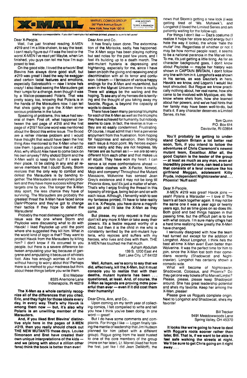 Uncanny X-Men (1963) issue 230 - Page 24